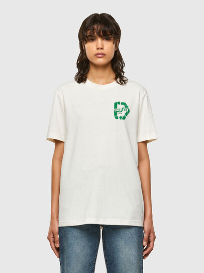 Diesel - T-JUST-N40, Bianco - T-Shirts - Image 2