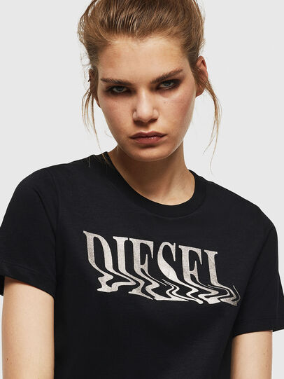 Diesel - T-SILY-WN, Nero - T-Shirts - Image 3