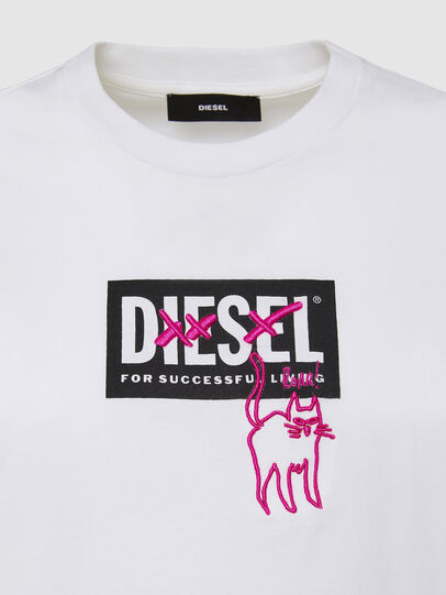 Diesel - T-SILY-E52, Bianco - T-Shirts - Image 3