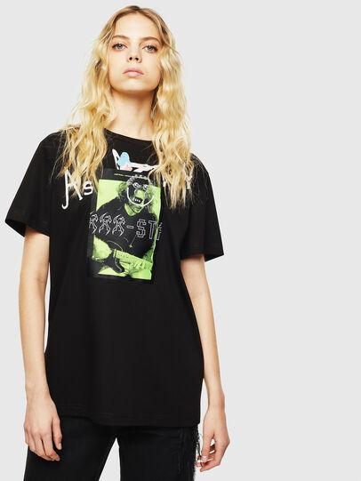Diesel - T-DARIA-Y, Nero - T-Shirts - Image 1