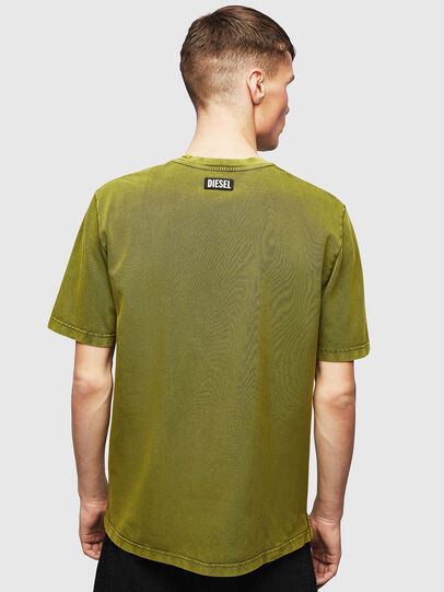 Diesel - T-JUST-SLITS-T15, Giallo - T-Shirts - Image 2