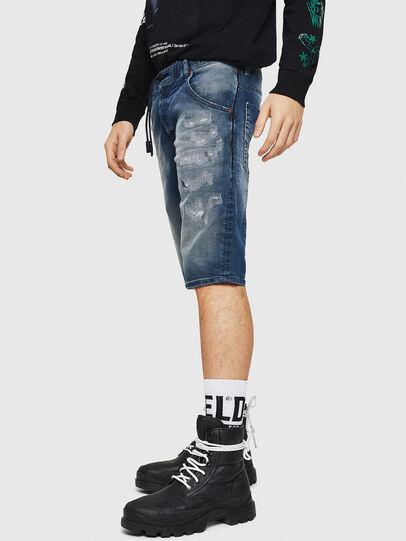 Diesel - D-KROOSHORT JOGGJEANS, Blu medio - Shorts - Image 4