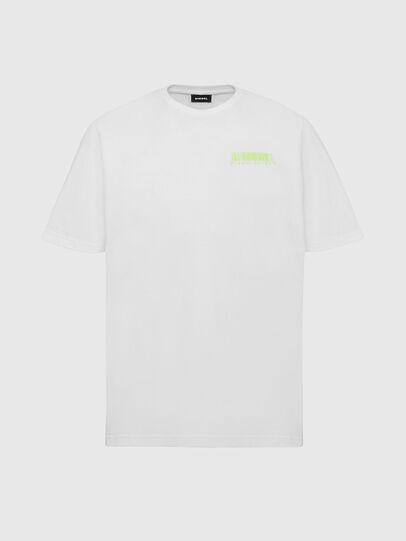 Diesel - T-JUST-SLITS-X84, Bianco - T-Shirts - Image 1