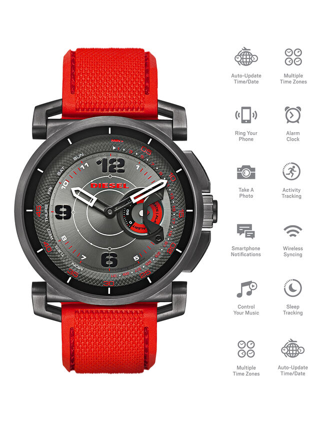 Diesel - DT1005, Rosso - Smartwatches - Image 1