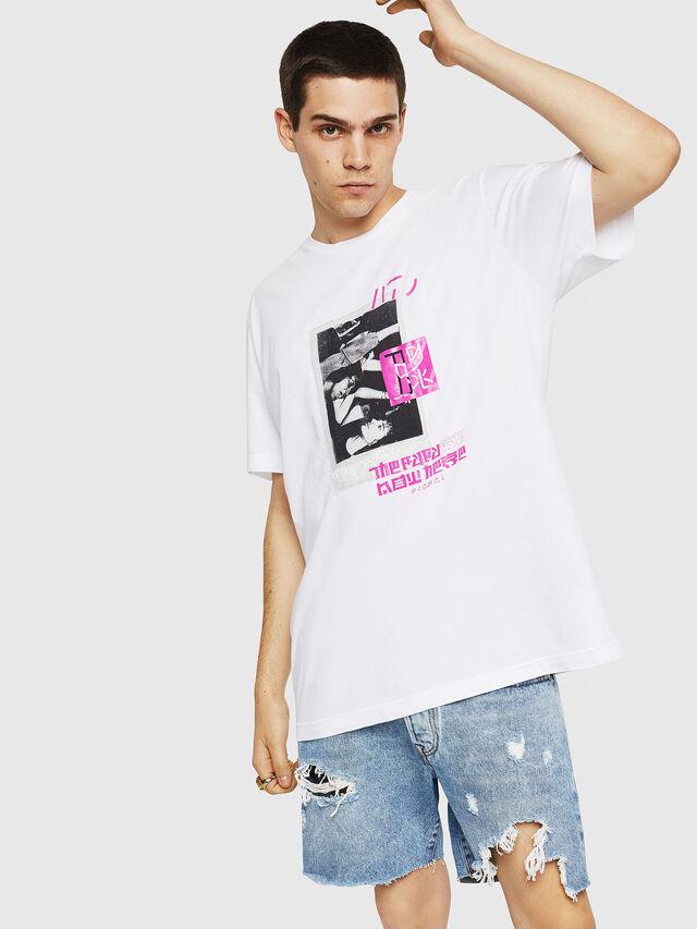 Diesel - T-JUST-Y21, Bianco - T-Shirts - Image 1
