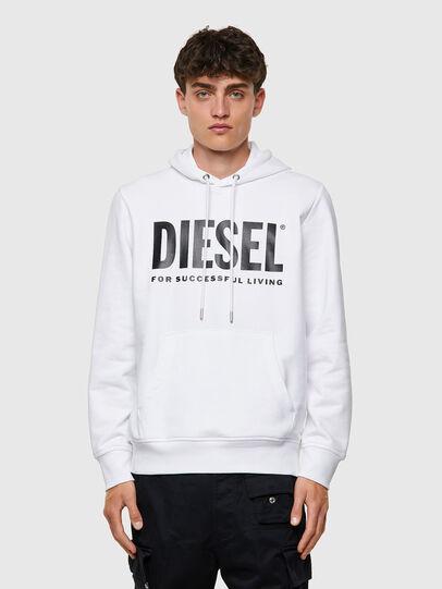 Diesel - S-GIRK-HOOD-ECOLOGO, Bianco - Felpe - Image 1