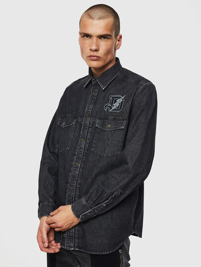 Diesel - D-BANDY-B, Nero - Camicie in Denim - Image 1