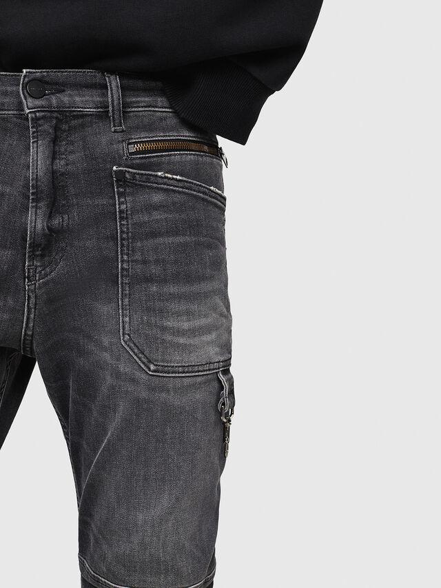 Diesel - D-Phormer 069DM, Nero/Grigio scuro - Jeans - Image 5