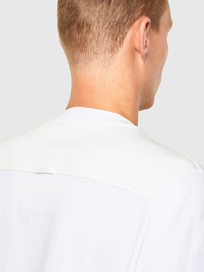 Diesel - T-TASK-LS, Bianco - T-Shirts - Image 4
