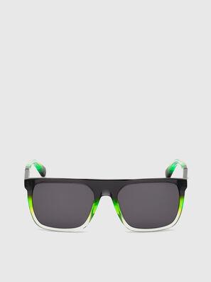 DL0299, Nero/Verde - Occhiali da sole