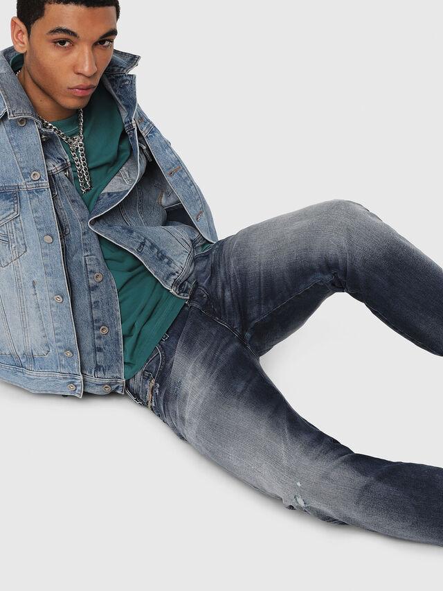 Diesel - D-Bazer 084DD, Blu Scuro - Jeans - Image 4