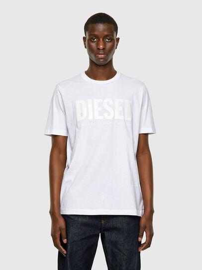 Diesel - T-JUST-INLOGO, Bianco - T-Shirts - Image 1