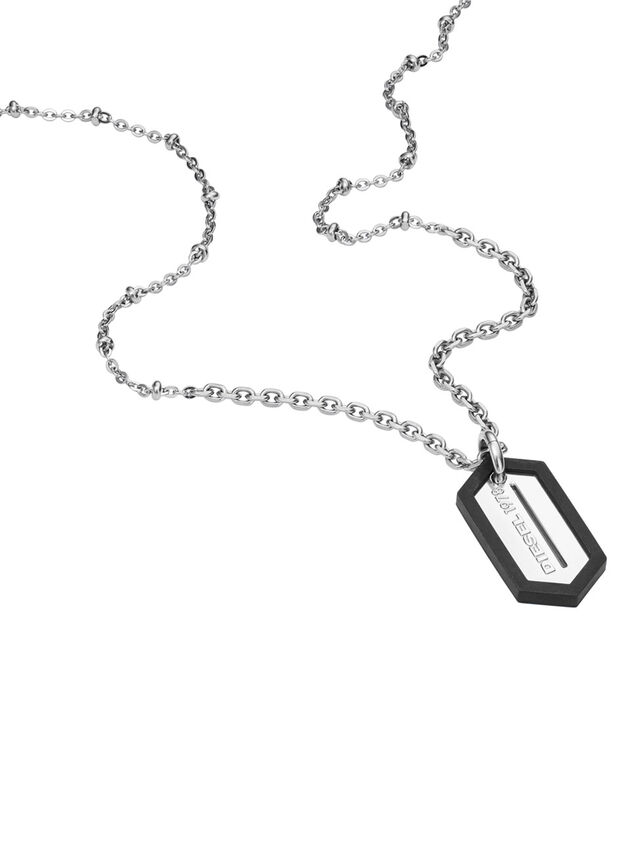 Diesel - NECKLACE DX0995, Argento - Collane - Image 2