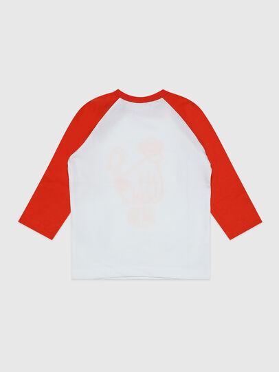 Diesel - TBALYB, Bianco/Arancione - T-shirts e Tops - Image 2