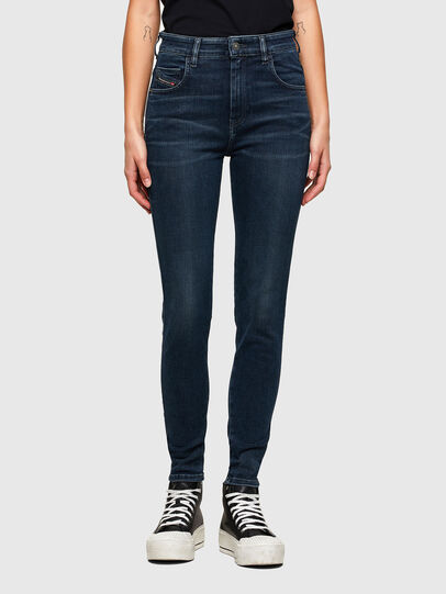 Diesel - Slandy High 009QF, Blu Scuro - Jeans - Image 1