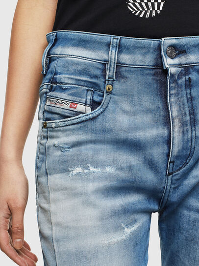Diesel - Fayza JoggJeans 0099Q, Blu medio - Jeans - Image 3