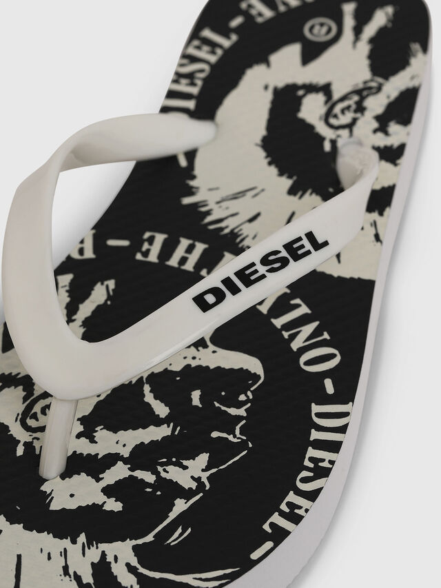 Diesel - FF 22 FLIPPER YO, Bianco/Nero - Scarpe - Image 3