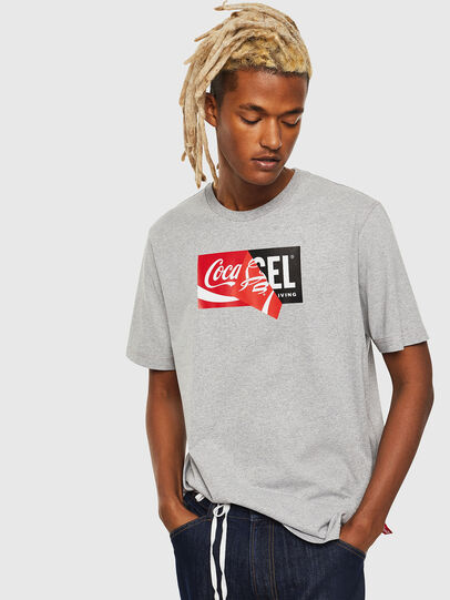 Diesel - CC-T-JUST-COLA, Grigio - T-Shirts - Image 1