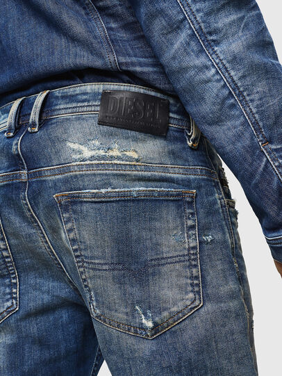 Diesel - Thommer JoggJeans 0870Q, Blu medio - Jeans - Image 5