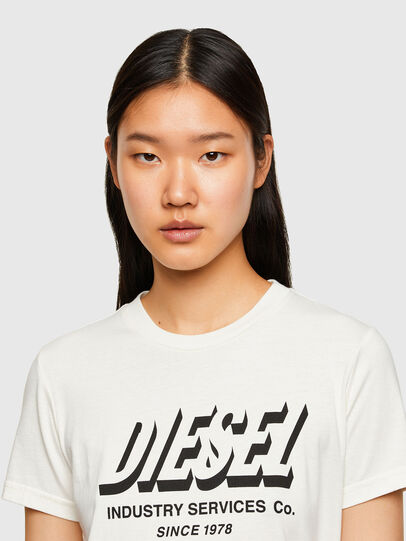 Diesel - T-SILY-R4, Bianco - T-Shirts - Image 3