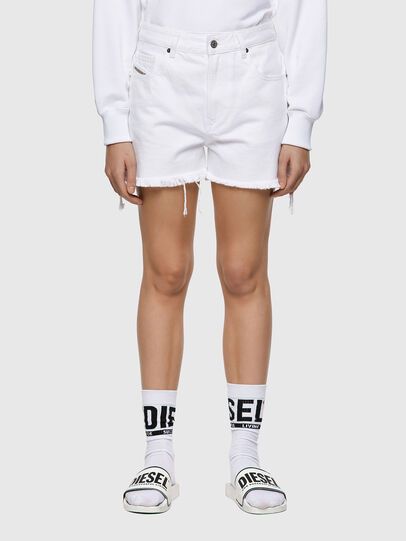 Diesel - DE-REG-R, Bianco - Shorts - Image 1