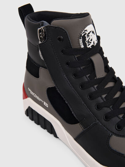 Diesel - S-RUA MID SK, Grigio - Sneakers - Image 4