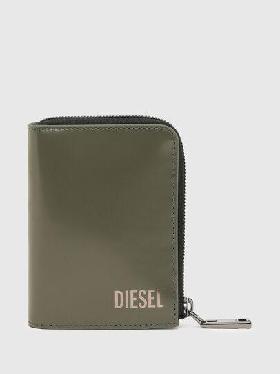 Diesel - L-12 ZIP, Verde Oliva - Portafogli Con Zip - Image 1