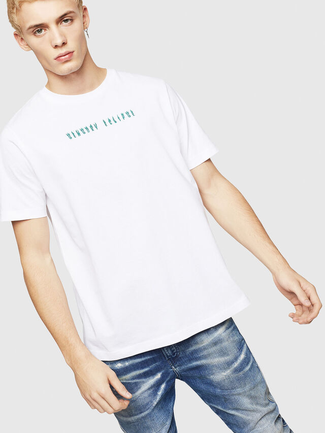 Diesel - T-JUST-A4, Bianco - T-Shirts - Image 1