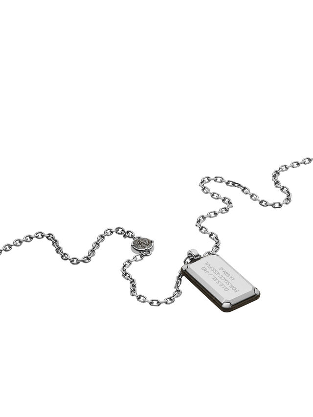 Diesel NECKLACE DX1019, Argento - Collane - Image 2