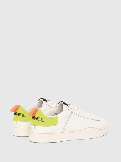 Diesel - S-CLEVER LOW LACE, Bianco/Giallo - Sneakers - Image 3