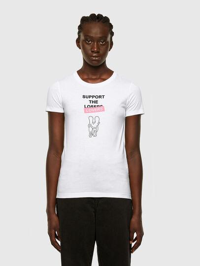 Diesel - T-SOAL-R1, Bianco - T-Shirts - Image 1