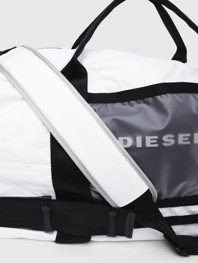 Diesel - M-CAGE DUFFLE M, Bianco/Nero - Borse da viaggio - Image 4