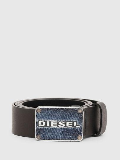 Diesel - B-PLAC, Nero - Cinture - Image 1