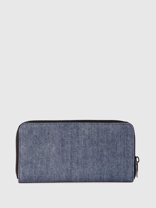 Diesel - 24 ZIP, Blu Jeans - Portafogli Con Zip - Image 2