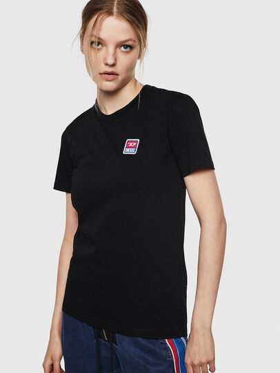 Diesel - T-SILY-ZE, Nero - T-Shirts - Image 1