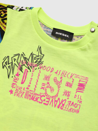 Diesel - TAIRB, Verde Fluo - T-shirts e Tops - Image 3