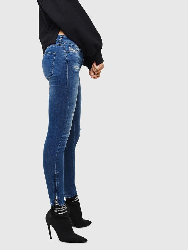 Diesel - Slandy Zip 089AI, Blu medio - Jeans - Image 4