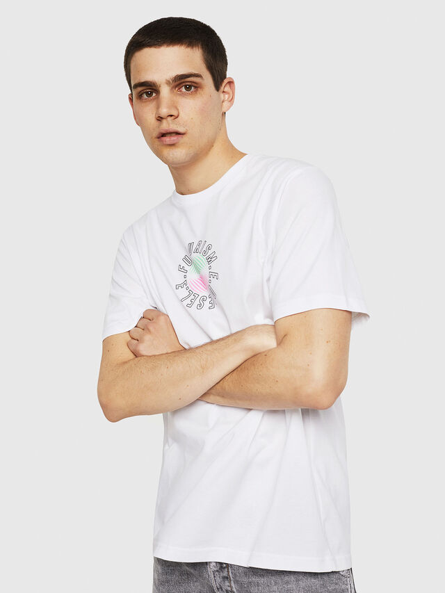 Diesel - T-JUST-Y19, Bianco - T-Shirts - Image 4