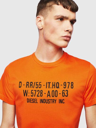 Diesel - T-DIEGO-S2, Arancione - T-Shirts - Image 3