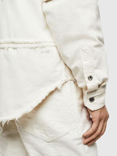 Diesel - D-KURTIS, Bianco - Camicie in Denim - Image 4
