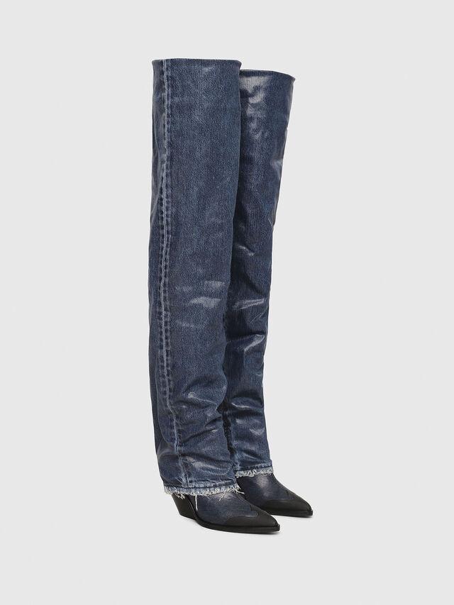 Diesel - D-WEST OTK, Blu Jeans - Stivali - Image 2