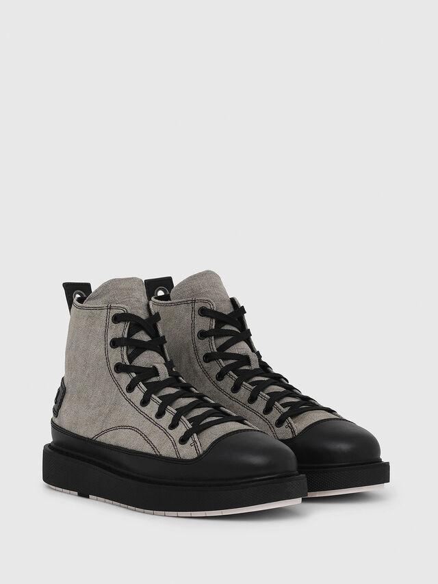 7c2127bfc9 H-CAGE DBB Uomo: Stivali ibridi in tessuto di lino e cotone | Diesel