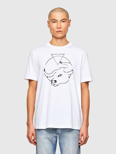 Diesel - CL-T-JUST-O, Bianco - T-Shirts - Image 1