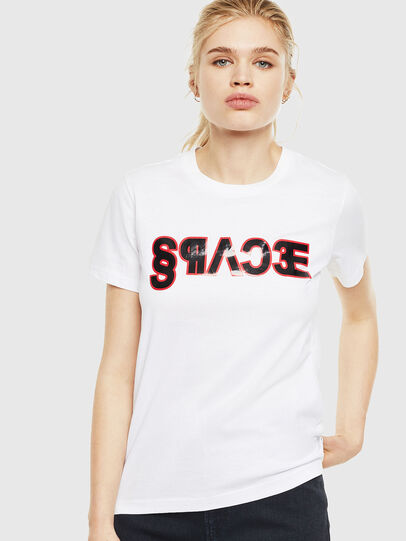 Diesel - T-SILY-WO, Bianco - T-Shirts - Image 1