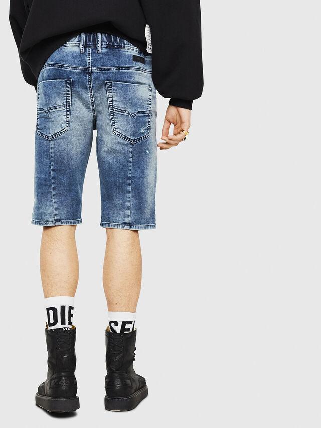 Diesel - D-KROOSHORT JOGGJEANS, Blu Jeans - Shorts - Image 2