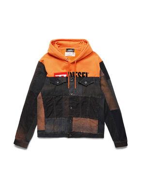 D-BNHILL55, Arancione - Giacche in denim
