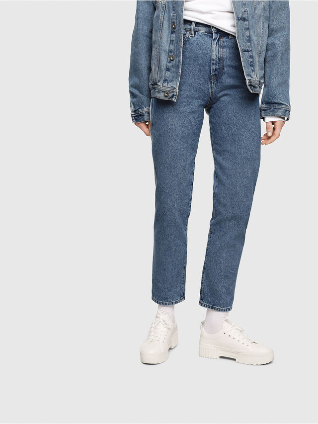 Diesel - D-Eiselle 0077V, Blu medio - Jeans - Image 1