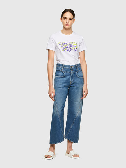 Diesel - T-SILY-K8, Bianco - T-Shirts - Image 4
