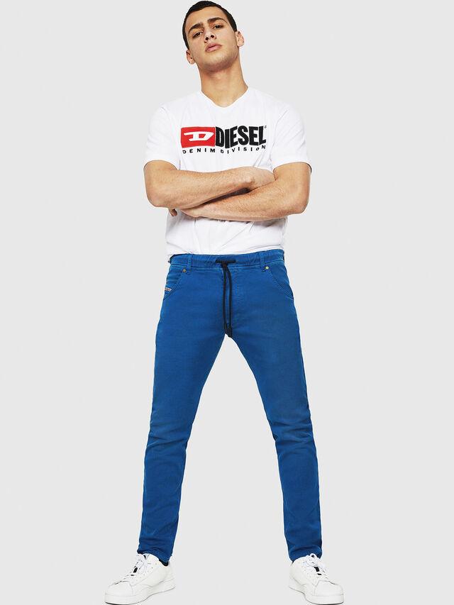 Diesel - Krooley JoggJeans 0670M, Blu Brillante - Jeans - Image 4
