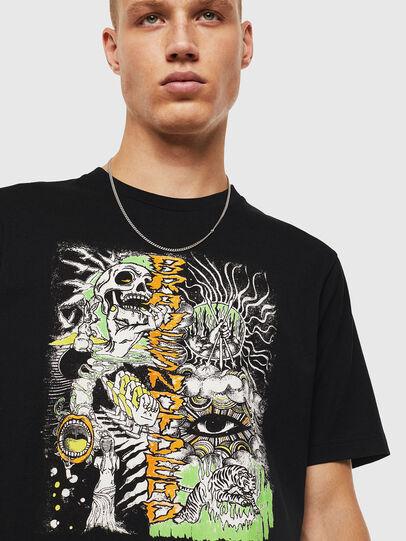 Diesel - T-JUST-J13, Nero - T-Shirts - Image 4